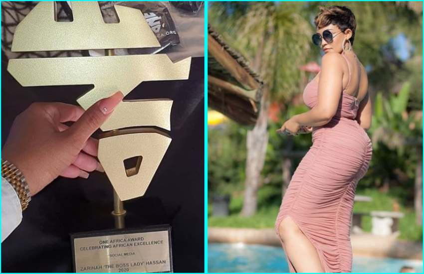 Zari Hassan tops One Africa Awards alongside Nigerian singer Burna Boy