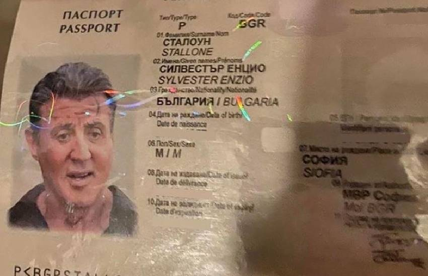 Bulgaria busts counterfeit gang that used fake passport of U.S. actor as sample