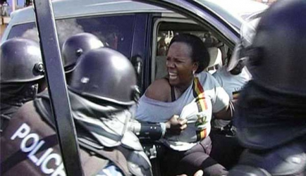 Drama as politician strips during arrest to protest police brutality