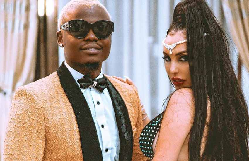 Harmonize exposes Wolper, reveals his Italian wife Sarah is pregnant