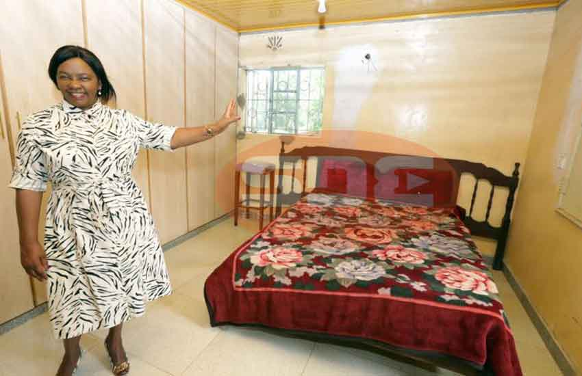 Inside room where Daniel Moi spent night in little known village