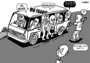 Old man silences noisy commuters with thunderous, smelly fart in matatu