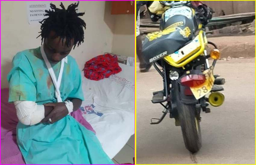 Rapper Zzero Sufuri out of danger after nasty motorcycle accident, pleads for help