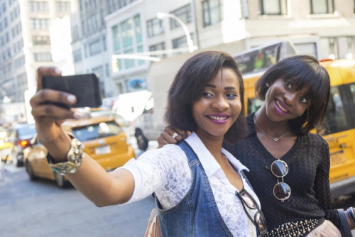 Ladies taking a selfie