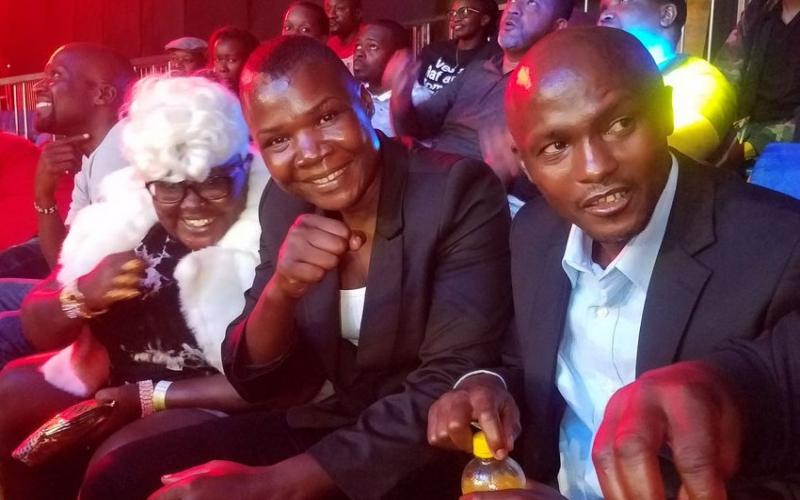 Conjestina Achieng re-appears at KICC, cheers Fatuma Zarika