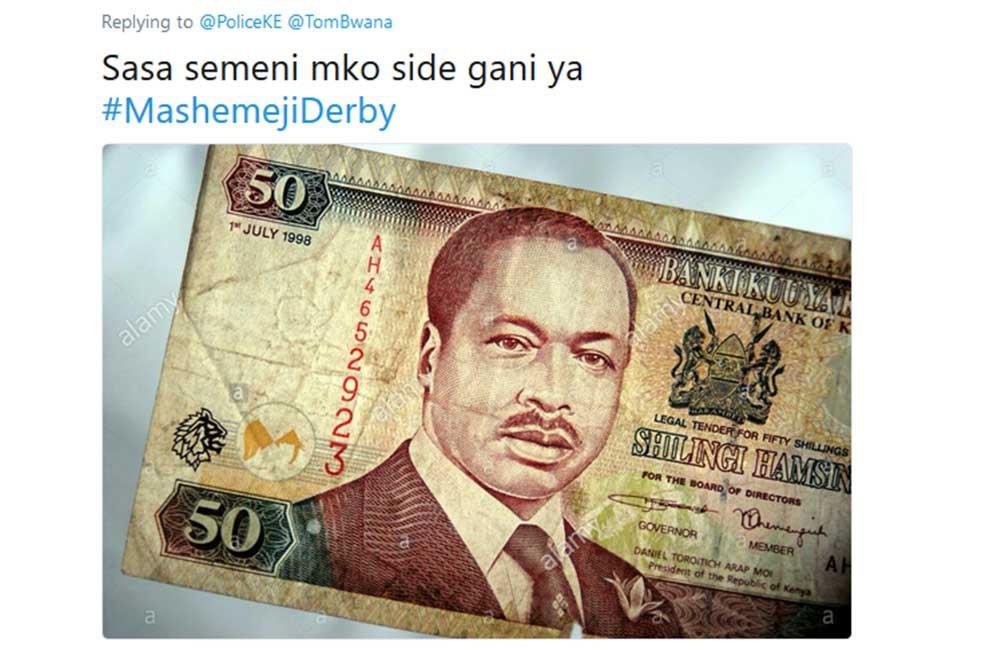 Kenya si hami! Hilarious tweets dragging Kenya Police into Mashemeji derby trend