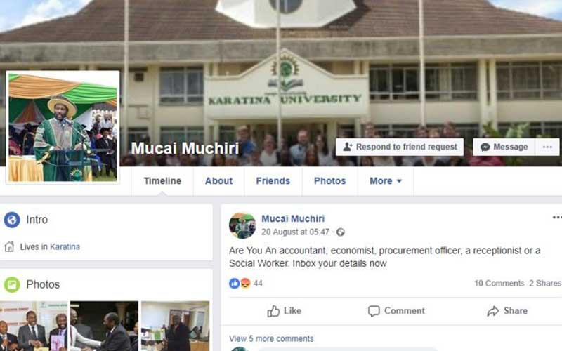Man posing as university boss cons job hunters on Facebook