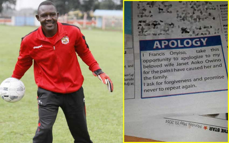 Why I published apology to my wife - former Stars keeper Onyiso