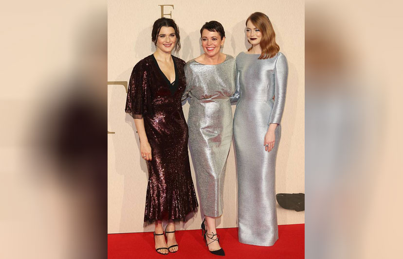 Rachel Weisz, Olivia Colman and Emma Stone at the