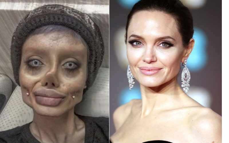 PHOTOS: 'Zombie' Angelina Jolie lookalike jailed after sharing creepy Instagram pictures