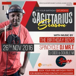 Celebrated Deejay Mr T calls on all November babies for birthday fun at Space Lounge this Saturday