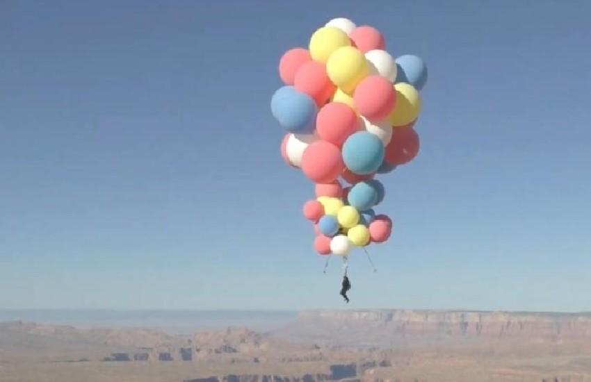 David Blaine pulls off high flying balloon 'Ascension' stunt