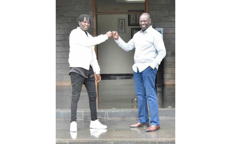 DP Ruto, Willy Paul partner in new project