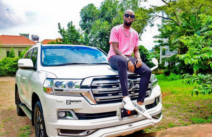 Was Eddy Kenzo's brand new Land Cruiser gift from Museveni?