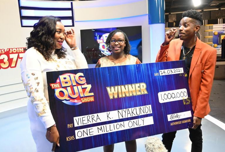 First winners of KTN's The Big Quiz Show awarded cash prizes