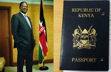 Hold Raila's passport: MP tells government to withhold NASA leader's travel documents