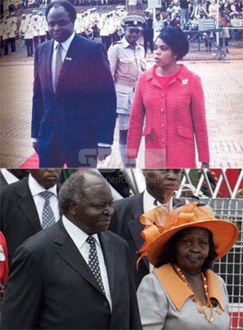 #TBT Retired President Mwai Kibaki and wife Lucy K