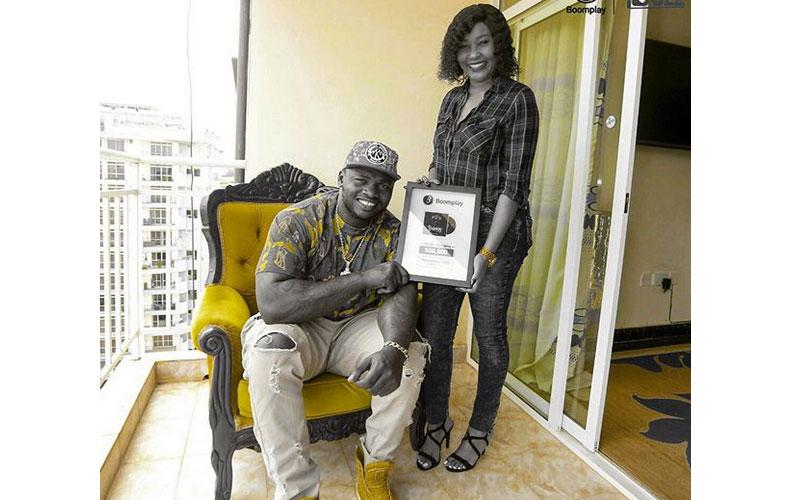 Khaligraph feted for half a million album streams