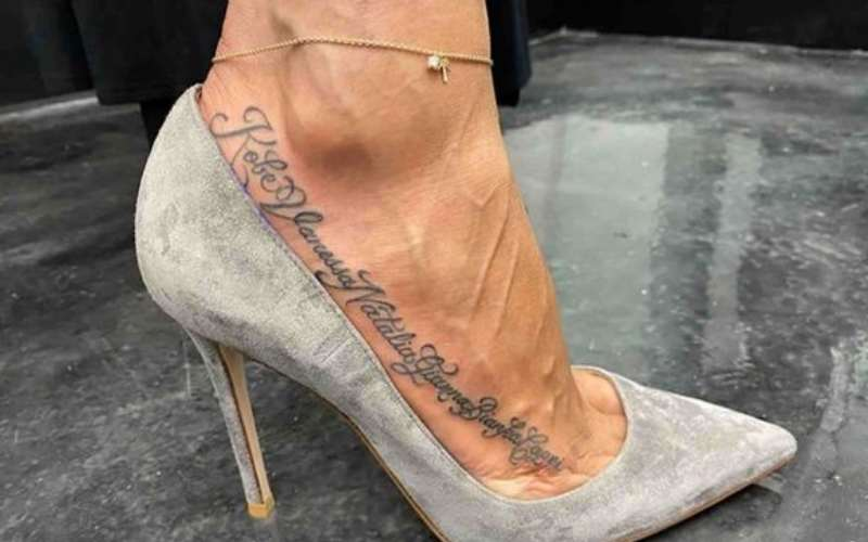 Kobe Bryant's wife Vanessa gets sweet family tattoo tribute inked on her foot