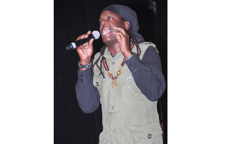 Richie Spice on stage at the KICC