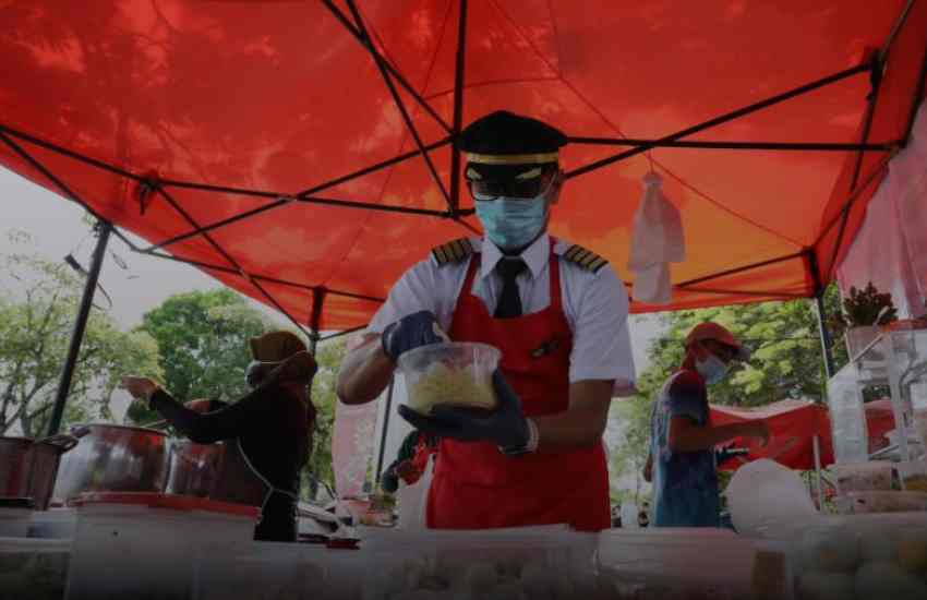 Grounded by Covid-19: Meet pilot selling noodles to make ends meet