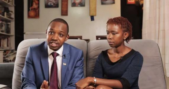 Boniface Mwangi and his wife Hellen Njeri