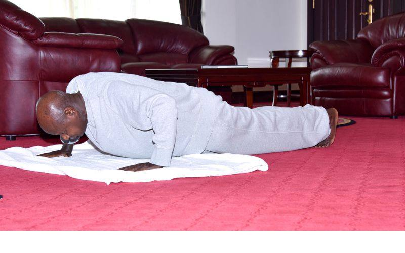 Museveni, the president who does not shy away from anything