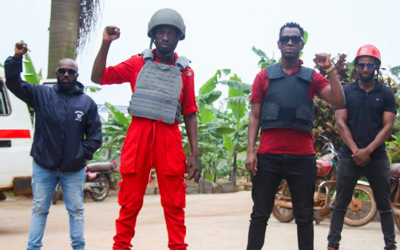 Netizens react as Bobi Wine resorts to wearing a bulletproof vest while campaigning