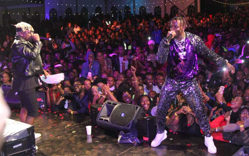 New Year Celebrations - Nairobi Wasafi Concert