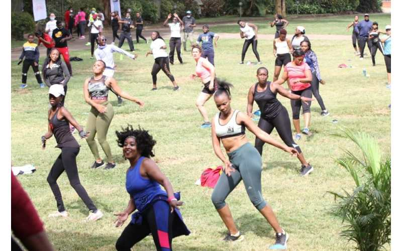PHOTOS: Fitness enthusiasts urge Kenyans to exercise to keep Covid at bay