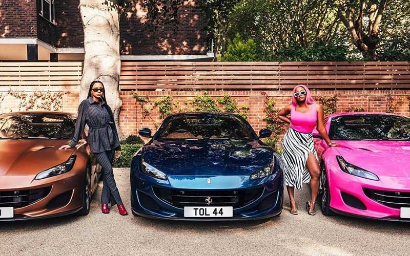 PHOTOS: Nigerian tycoon splashes Sh69 million on Ferrari gifts to daughters