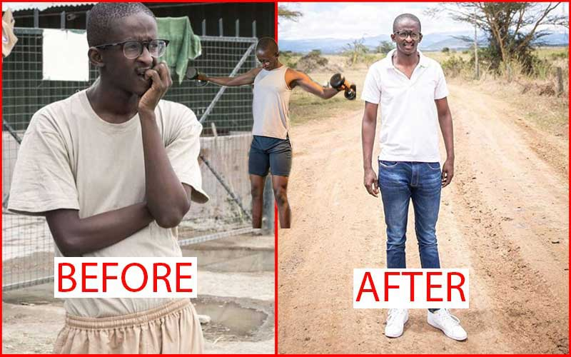 PHOTOS: Njugush's body transformation after hitting the gym