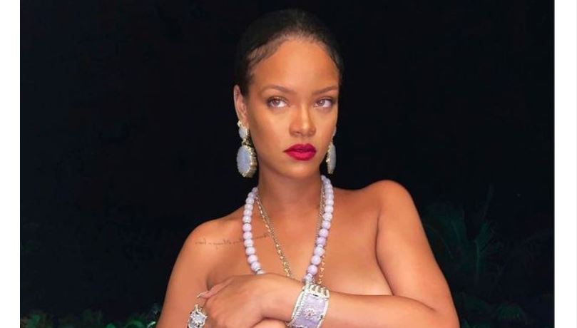 Rihanna accused of cultural appropriation over religious pendant in topless photo