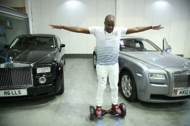 Singer Jaguar balling in London with top of the line rides