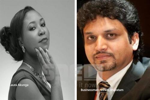 Laura Akungu and businessman Sriram Bharatam