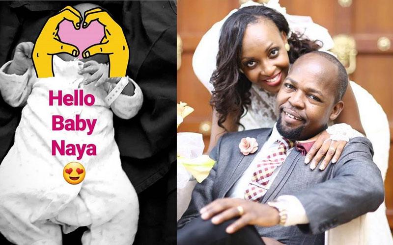 Alex Mwakideu, wife welcome third child