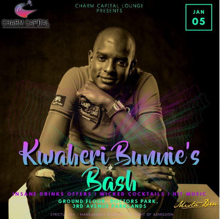 Charm Capital Lounge presents biggest party, Kwaheri Bunnies bash