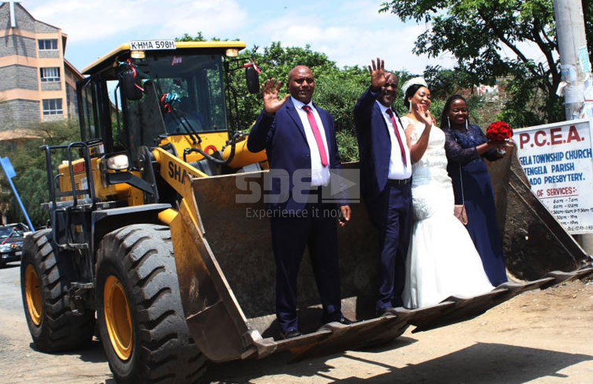 Kitengela couple bring town to a standstill with earth-shaking entry