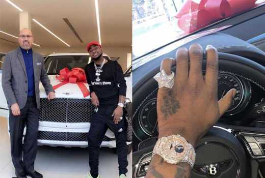 Davido shows off newly acquired Bentley worth Sh28 million