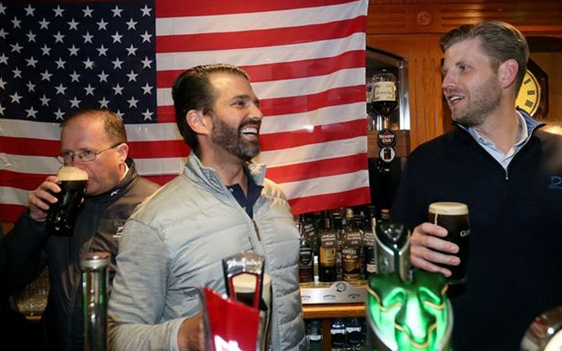 Donald Trump's sons go on pub crawl in Ireland