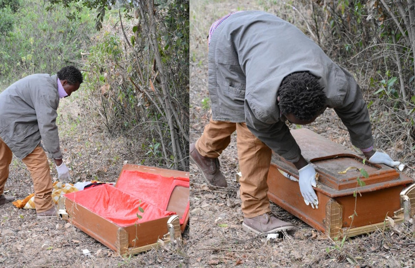 Grieving woman exhumes daughter in Naivasha, prays for resurrection