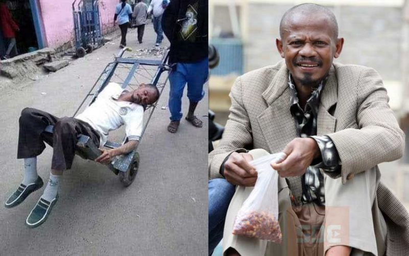 I have cried: Githeri Man responds to viral photo of him in handcart
