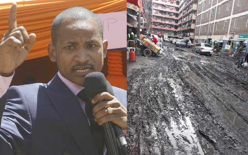 I'm Kenya's best MP: Babu Owino distances himself from muddy 'Pipeline' roads