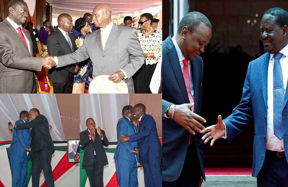 Handshake Uganda edition: Kenyans react as President Museveni meets Besigye