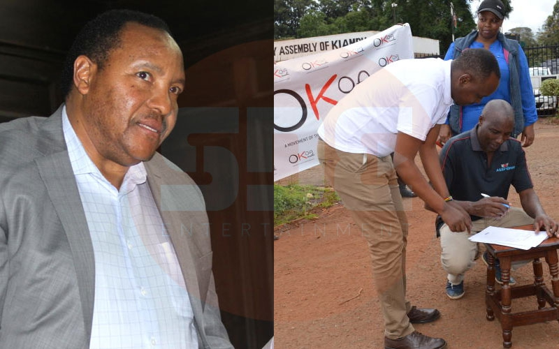 Okoa Kiambu: Residents collect signatures to get rid of Waititu
