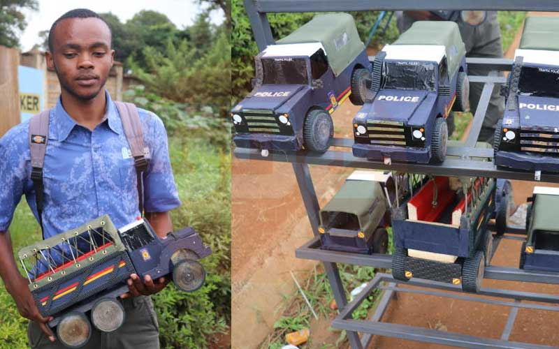 Police, army toy vehicles earn University of Embu student decent income