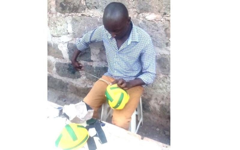 How I bounced back after losing my job: Kariobangi man behind handmade soccer balls