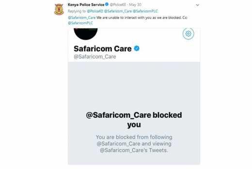 Twitter lights up after Safaricom blocks Kenya Police Service