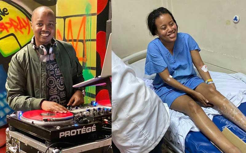 Dj Protégé's wife Diana Gacheri breaks her leg