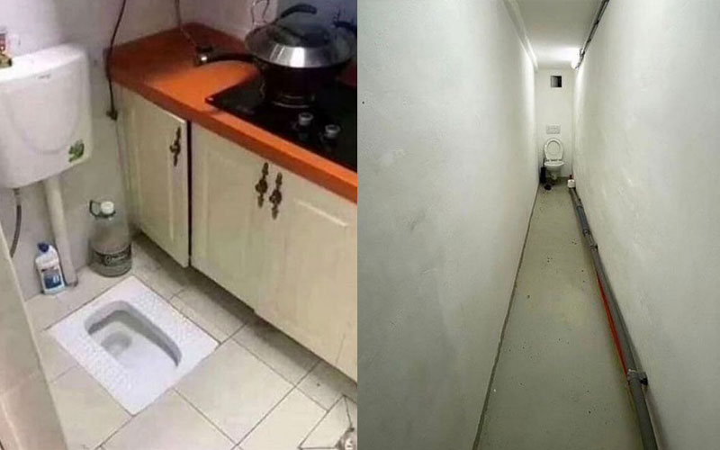 Toilet in kitchen: Most outrageous house design fails